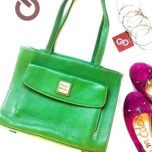 Dooney & Burke Janine w/ Front Pocket Emerald
